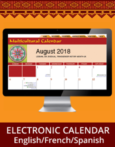 Multicultural Calendar Electronic