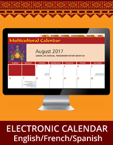 Multicultural Diversity Electronic Calendar
