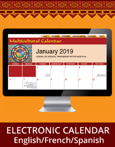 Multicultural Calendar online electronic