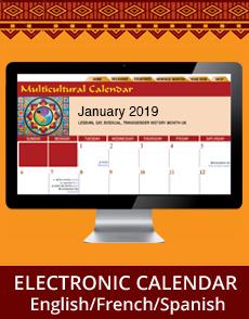 2019 Multicultural Calendar Diversity Calendar Multifaith Calendar
