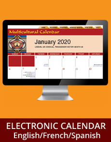 2020 Multicultural Calendar Electronic Online